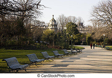 Autumn Park In The Paris
