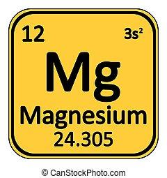 Periodic table element magnesium icon. - Periodic table...