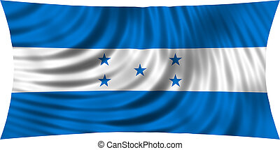 Flag of Honduras waving isolated on white - Honduran...