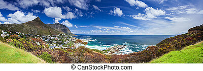 Cape Town panoramic landscape, Camp's Bay and Lion's Head...