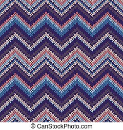 Seamless Ethnic Geometric Knitted Pattern. Style Red Pink...