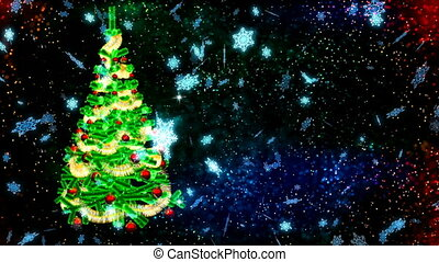 HD Loopable Background with nice christmas tree