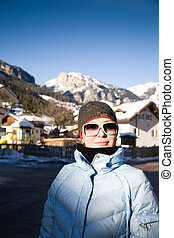Woman In The Alps Resort
