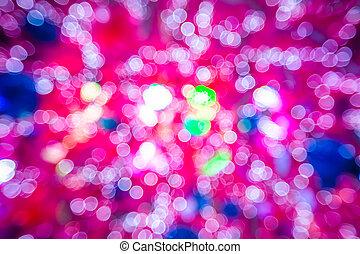 Pink christmas lights - Pink background of bokeh defocused...