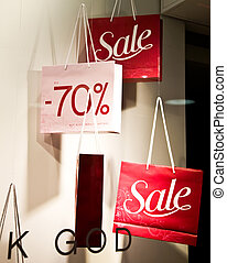 Shopping Bags With Sale Sign Shopping Series