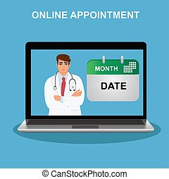 online appointment, doctor visit