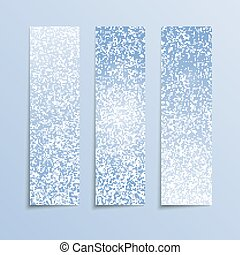 Vertical Blue Rectangle Banners. Snow, Winter. - Vertical...