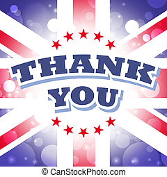 thank you greeting card for uk