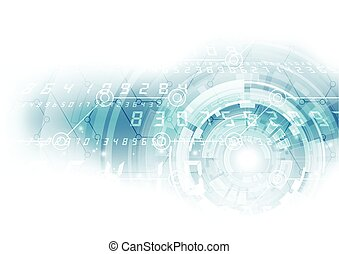 Abstract digital technology. vector background