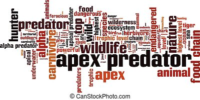 Apex predator word cloud concept. Vector illustration