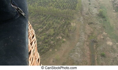 Forest aerial landscape. - Forest and river aerial...