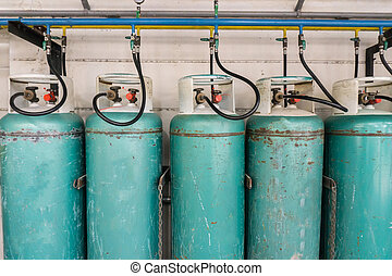 liquefied petroleum gas or LPG - Keep the gas tank to safety...
