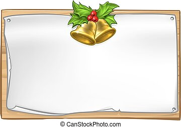 Christmas Wooden Scroll Sign