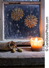 christmas decoration on a window 23 - romantic christmas...