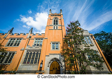 The exterior of Trinity Episcopal Cathedral, in Columbia,...