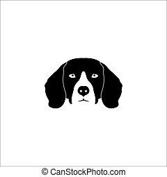 Beagle Dog logo - Beagle Dog Head Vector Logo Template...