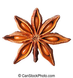 Star anise isolated on white background