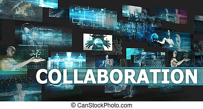 Collaboration Presentation Background with Technology...