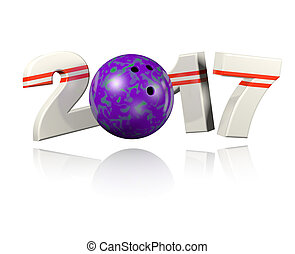 Bowling 2017 design with a White Background