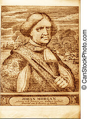Pirate - picture of well-known British pirate Henry Morgan...