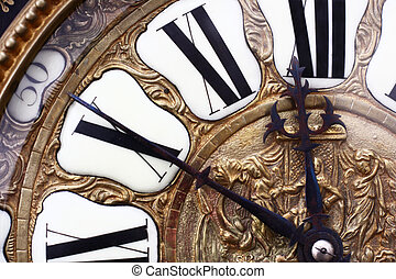 Old clock - ancient clock of the nineteenth century