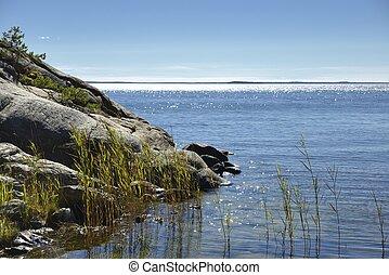 Stockholm archipelago. - Seascape, Stockholm archipelago.