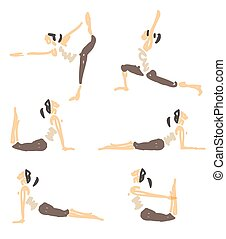 Vector Illustrated Yoga - Vector Illustrated Sketched Yoga...