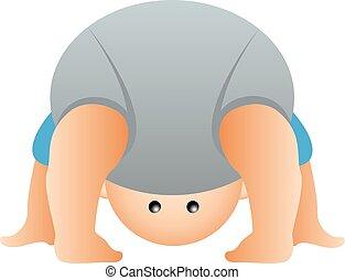 baby showing diaper bum
