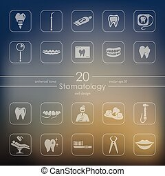 Set of stomatology icons - stomatology modern icons for...