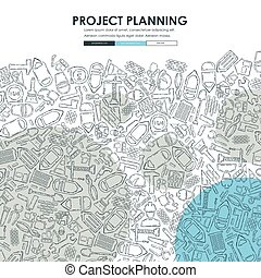 construction Doodle Website Template Design - construction...