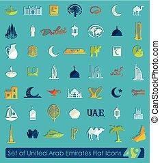 Set of United Arab Emirates icons - Set of United Arab...