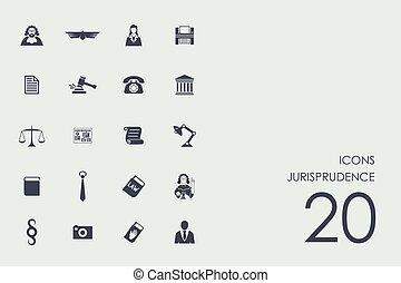 Set of jurisprudence icons - jurisprudence vector set of...