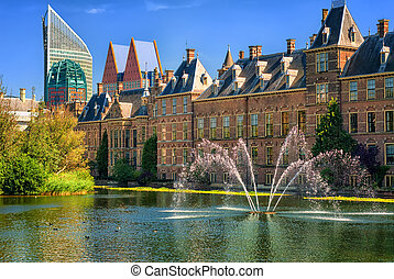 Binnenhof palace, The Hague, Netherlands - View of the...