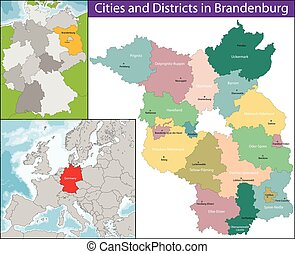 Map of Brandenburg - Brandenburg is one of the sixteen...