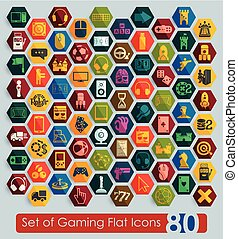 Set of gaming icons