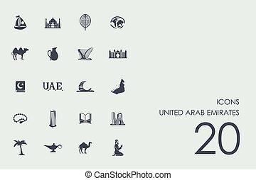 Set of United Arab Emirates icons - United Arab Emirates...