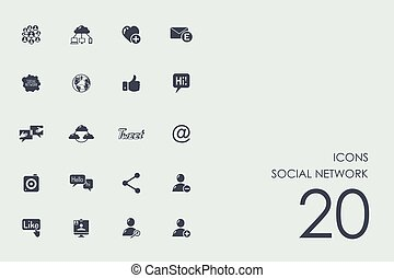 Set of social network icons - social network vector set of...