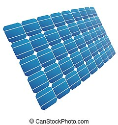 The solar cell shown in perspective. - Renewable energy. The...