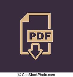plat, Formaat, symbool, bestand,  pdf, pictogram