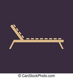 The lounger icon. Sunbed symbol. Flat Vector illustration