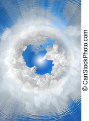 seventh heaven, cloud nine - abstract, concept, background,...