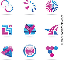 Abstract blue and purple Icon Set 21 - Abstract blue and...