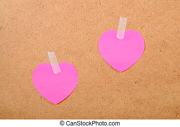 Stickers in the form of heart