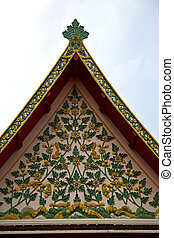 thailand asia     bangkok rain  temple       sky      and  colors