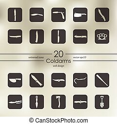 Set of cold arms icons - cold arms modern icons for mobile...