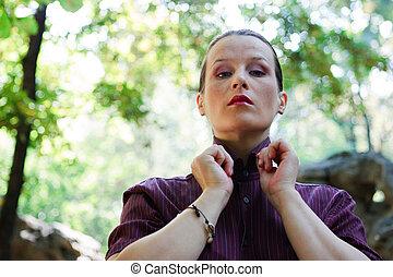 Young arrogant woman - Beautiful young arrogant woman...