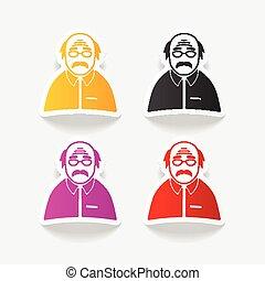 realistic design element. senior citizens