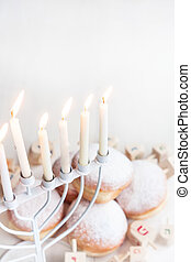 Jewish holiday Hannukah background - Jewish traditional...