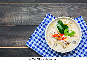 coconut milk soup with chicken or Thai chicken coconut Soup...
