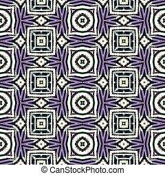 Abstract seamless geometric cubist kaleidoscopic background...